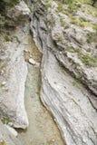 Rzeka w Samaria w?wozie zdjęcie royalty free