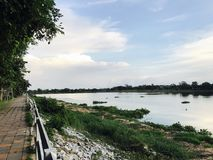 Rzeka W szkole mój wspominki zdjęcie stock