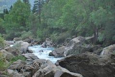 Rzeka w Torla Zdjęcia Stock