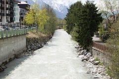 Rzeka w Wiośnie Obrazy Royalty Free