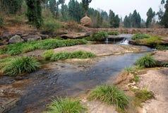Rzeka w wsi Obraz Royalty Free