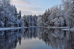 Rzeka w zimie fotografia royalty free