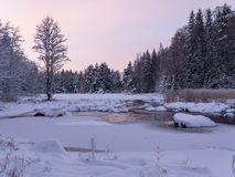 Rzeka w zimie zdjęcie stock