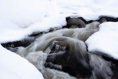 Rzeka w zimie obraz royalty free