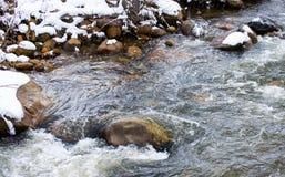 Rzeka w zimie Fotografia Stock