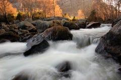 rzeka wschód słońca Obrazy Royalty Free