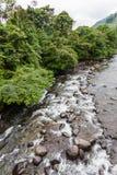 Rzeka z czystym i krystalicznym - jasna woda Obraz Royalty Free