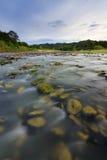 Rzeka z mechatymi skałami przy Sabah, Borneo obrazy royalty free