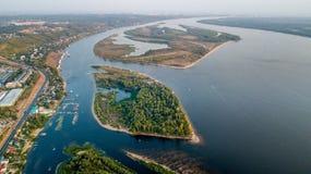 Rzeka z wyspami obraz royalty free