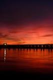 rzeki bridżowy skrzyżowanie Fotografia Royalty Free