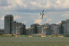 Rzeki, miasta i sportów samolot, kazan Russia Fotografia Stock