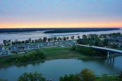 Rzeki Mississippi i słońca set Obraz Royalty Free