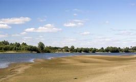 Rzeki plaża Fotografia Stock