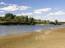 Rzeki plaża Zdjęcie Stock