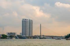Rzeki strona przy Bangkok Tajlandia fotografia stock