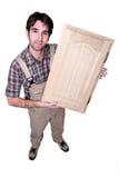 Rzemieślnik trzyma up jego praca zdjęcia stock