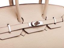 Rzemienna żeńska torebka. Zdjęcia Royalty Free