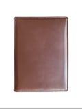 Rzemienna brown książkowa pokrywa Zdjęcia Royalty Free