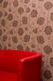 rzemienna czerwona kanapa Fotografia Royalty Free