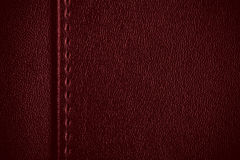 rzemienna czerwona tekstura Fotografia Royalty Free