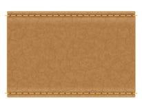 Rzemienna etykietka dla cajgu wektoru ilustraci Obraz Stock