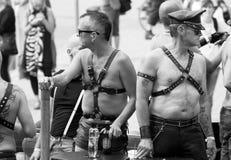 Rzemienna men- Dumy Parada Sztokholm 2012. Zdjęcie Royalty Free