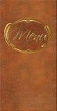 Rzemienna menu karta goldplated Zdjęcia Royalty Free