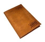 Rzemienna notatnika Movable pokrywa Obrazy Stock