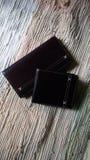 Rzemienna portfel kolekcja Zdjęcia Stock