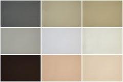 Rzemienna tekstura ustawiająca w wieloskładnikowych kolorach Fotografia Stock