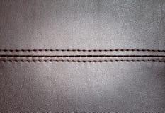 Rzemienna tekstura z horyzontalnym szwem Obraz Stock