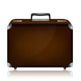 Rzemienna walizka z kombinacja kędziorkiem c i metalem royalty ilustracja