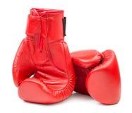 Rzemienne bokserskie rękawiczki odizolowywać zdjęcie stock