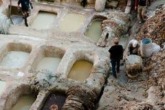 Rzemienne garbarnie Maroko - fez - Zdjęcie Royalty Free