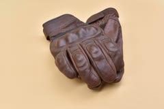 Rzemienne rękawiczki dla jechać motocykl Obraz Stock