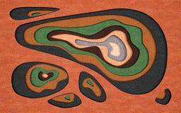 Rzemiennej tekstury rżnięty abstrakcjonistyczny tło z bieżącego ciecza cięciem obraz royalty free