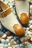 Rzemienni formalni buty Zdjęcia Royalty Free