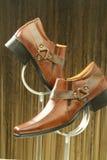 Rzemienni formalni buty Zdjęcie Stock