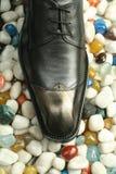 Rzemienni formalni buty Fotografia Royalty Free