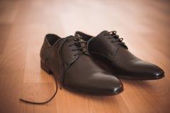 Rzemienni klasyka stylu mężczyzna buty Zdjęcie Royalty Free