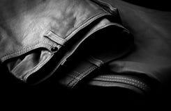 Rzemienni spodnia w bielu czarny Zdjęcia Stock