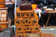 Rzemienny bagaż zdjęcie royalty free
