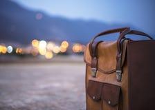 Rzemienny bagaż fotografia royalty free