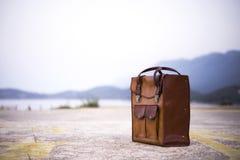 Rzemienny bagaż fotografia stock