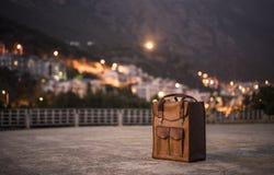 Rzemienny bagaż obraz royalty free