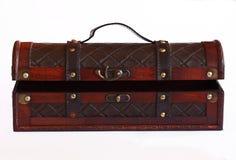 Rzemienny i drewniany pudełko Zdjęcia Royalty Free