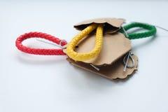 Rzemienny kluczowy łańcuch dla twój tajnego klucza Fotografia Stock