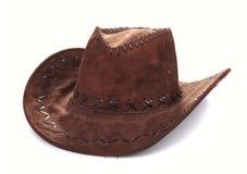 Rzemienny kowbojski kapelusz Obrazy Royalty Free