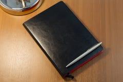 rzemienny notatnik zdjęcia stock