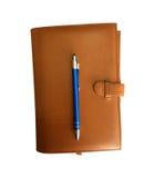 rzemienny notatnik zdjęcie royalty free